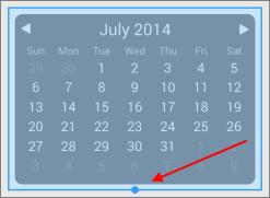 Calendar highlighted in blue